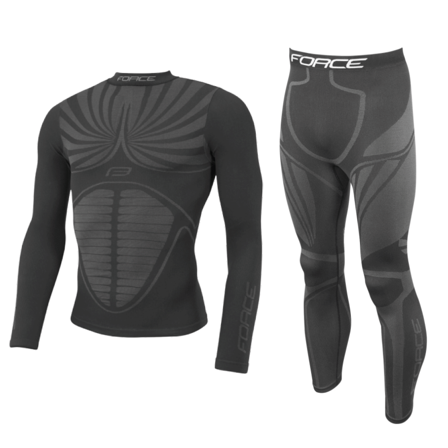 Force Baselayer set svart